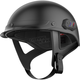 Matte Black Cavalry Half Helmet w/Bluetooth Communicator