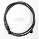 Midnight Black Vinyl Coated Stainless Braided Clutch Line w/Black Fittings For Use w/15-17 in. Ape Hangers - LA-8054C16M