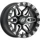 Front/Rear Split 6 Beadlock 14x7 12mm Stud Wheel - A72M47037-52S