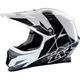 White/Black Rise Helmet