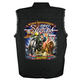 Black 2017 Sturgis Uncle Sam Racer Sleeveless Denim Shirt