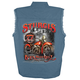 Blue 2017 Sturgis Rushmore Sleeveless Denim Shirt