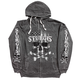 Charcoal 2017 Sturgis Flag Skull Acid Wash Zip Hoody