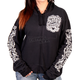 Women's Black 2017 Sturgis Chalk Angel Wings Zip Hoody