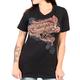 Women's Black 2017 Sturgis Embossed T-Shirt