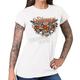 Women's White 2017 Sturgis Pistol Flowers T-Shirt