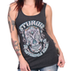 Women's Heather Charcoal 2017 Sturgis Antique Sugar Skull Tank Top