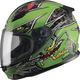 Youth Black/Green GM49Y Alien Street Helmet