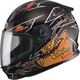 Youth Black/Orange GM49Y Alien Street Helmet