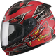 Youth Black/Red GM49Y Alien Street Helmet