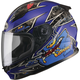 Youth Black/Blue GM49Y Alien Street Helmet
