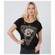 Women's Black Tri Star 3 T-Shirt