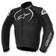 Black Jaws Leather Jacket  - 3101016-10-46