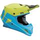 Blue/Lime Sector Level Helmet