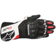 Black/White/Red SP-8 v2 Leather Gloves