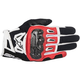 Black/Red/White SMX-2 Air Carbon v2 Leather Gloves