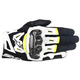 Black/White/Fluorscent Yellow SMX-2 Air Carbon v2 Leather Gloves