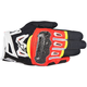 Black/Fluorescent Red/White/Fluorescent Yellow SMX-2 Air Carbon v2 Leather Gloves