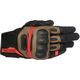 Black/Tobacco Brown/Red Highland Gloves