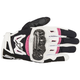 Womens Black/White/Pink Stella SMX-2 v2 Air Carbon Gloves