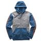 Gray Heather/Blue Machine Fleece Hoody
