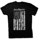 Black Distressed Flag T-Shirt