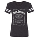 Women's Charcoal Gray Label Football T-Shirt