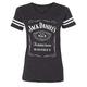 Women's Charcoal Gray Label Football T-Shirt