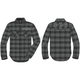 Charcoal Woven Snap-Front Long Sleeve Shirt