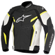 White/Black/Fluorescent Yellow GP Plus R v2 Leather Jacket