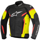 Black/Yellow/Fluorescent Red GP Plus R v2 Leather Jacket