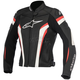 Womens Black/White/Red Stella GP Plus R v2 Leather Jacket