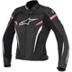 Womens Black/White/Fuchsia Stella GP Plus R v2 Leather Jacket