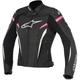 Womens Black/White/Fuchsia Stella GP Plus R v2 Leather Jacket