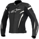 Womens Black/White Stella GP Plus R v2 Airflow Leather Jacket