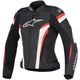 Womens Black/White/Red Stella GP Plus R v2 Airflow Leather Jacket