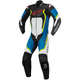 Black/White/Blue/Yellow Motegi v2 One-Piece Riding Suite