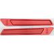 Red Saddlebag Latch Inserts - R-BLI14-T7