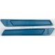 Blue Saddlebag Latch Inserts - R-BLI14-T8