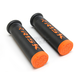 Black/Orange Fusion 2.0 ATV/MTB Grips w/Fusion Bonding System - 00292