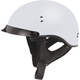 Flat White GM65 Full Dress Half Helmet