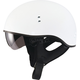 Flat White GM65 Naked Half Helmet