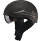 Flat Black/Dark Silver GM65 Naked Pinstripe Half Helmet