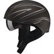 Flat Black/Silver GM65 Naked Torque Half Helmet
