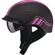 Flat Black/Pink GM65 Full Dress Twin Half Helmet