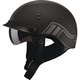 Flat Black/Silver GM65 Full Dress Twin Half Helmet