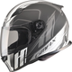 Matte Black/Silver/White FF49 Rogue Street Helmet