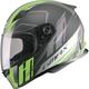 Matte Black/Hi-Vis Green/Silver FF49 Rogue Street Helmet