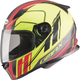 Matte Black/Hi-Vis Yellow/Red FF49 Rogue Street Helmet
