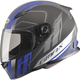Matte White/Blue/Black FF49 Rogue Street Helmet